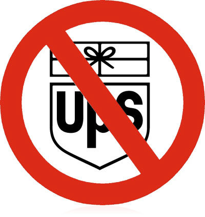 Don't ever use UPS for a parcel delivery.