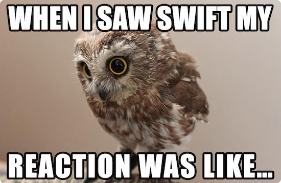 Swift, OMG.